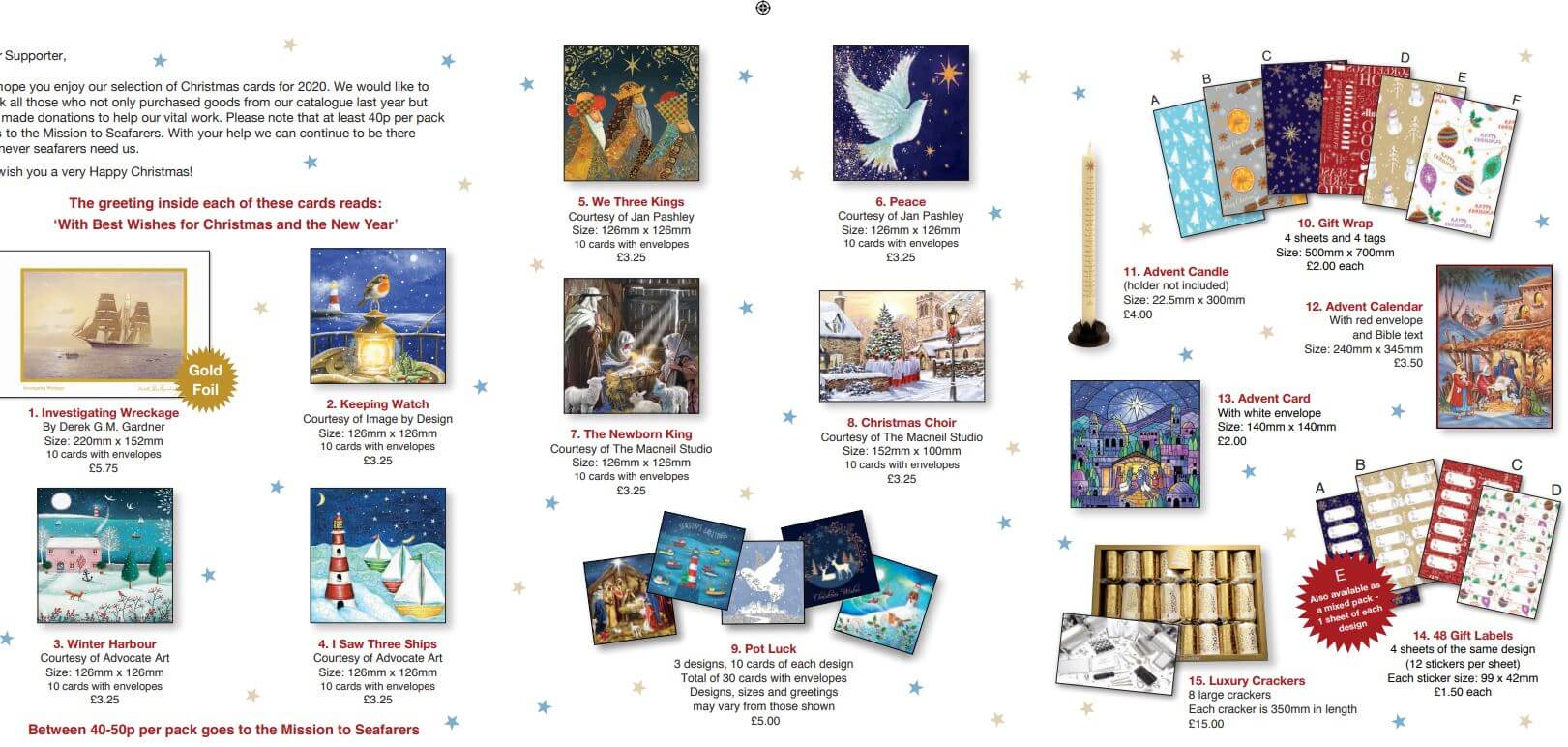 Mission to Seafarers Christmas Cards 2020