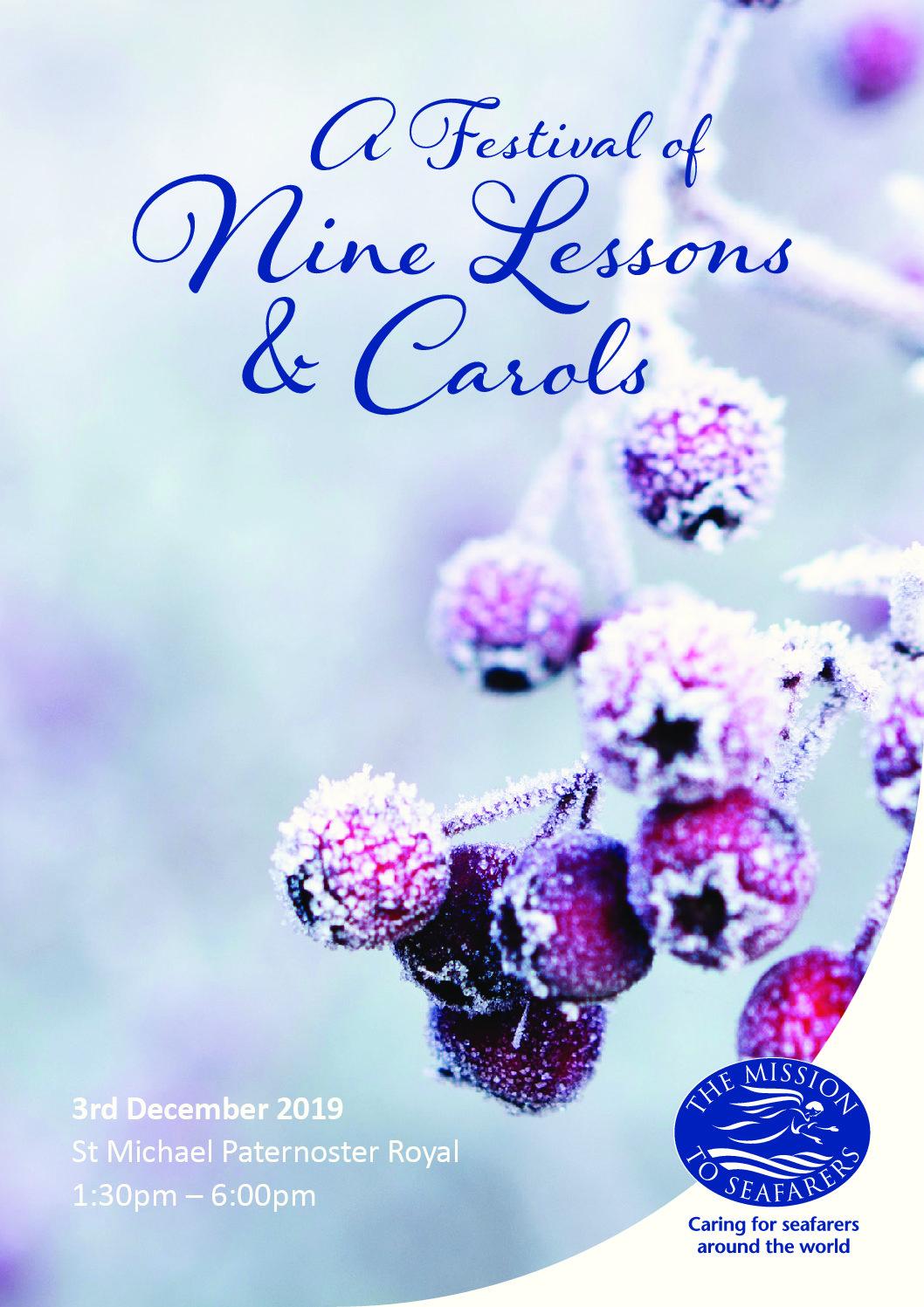 Festival of Nine Lessons and Carols 2019 – 3rd December